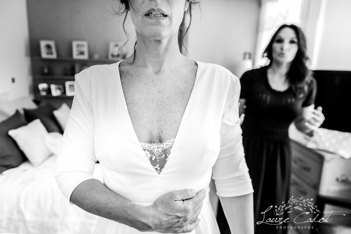la mariée stress avant le depart