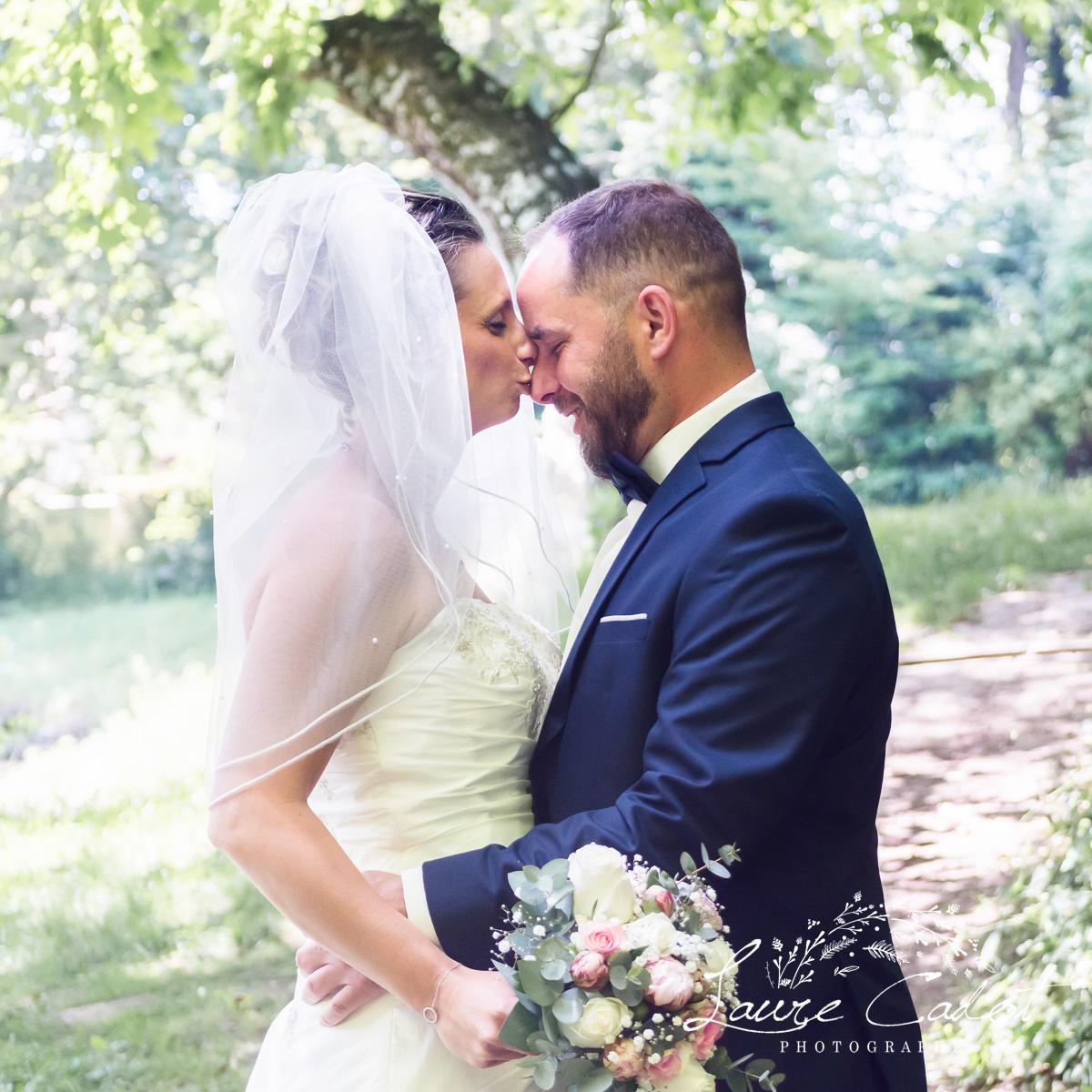 séance photo avec les mariés