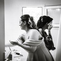 temoins mariée pendant préparation