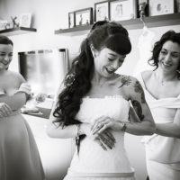 mariée préparation habillage